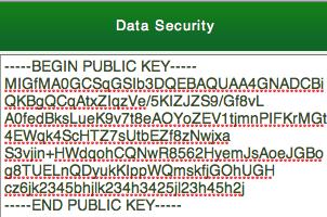 Public Data Key